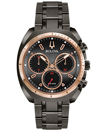 Bulova Men's 'Curv Collection' Quartz Stainless Steel Casual Watch, Color:Grey (Model: 98A158) -