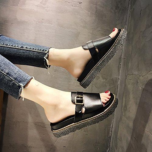 antiscivolo YMFIE lady toed fondo white Estate fondo sandals morbido pantofole spesso nuovo YRfwqYa