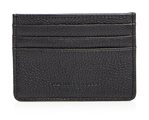 The Mens Store Bloomingdales Leblon Genuine Leather Card Case Wallet  Black