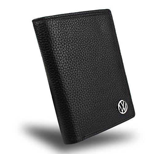 golden tai Rfid Bifold Wallet 10 Credit Card Slots ID Window Genuine Leather (Volkswagen)
