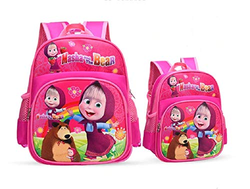 MASHA and the BEAR Kids Pink Backpack 322412cm (Masha And The Bear English Full Episodes)