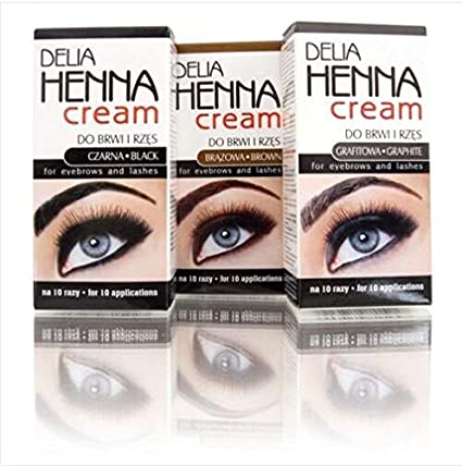 Buy Generic Brown Delia Henna Eyebrows Cream Makeup Eyebrow Tint