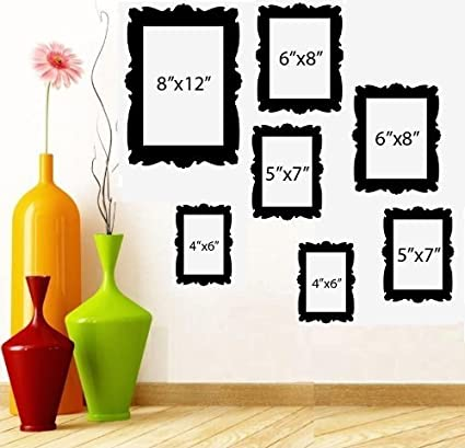 Amazon.com: FAMILY TREE PICTURE FRAMES ~ WALL DECAL (1) 8\
