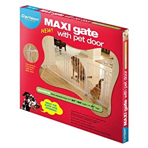Carlson Maxi Walk Through Pet Gate for Wide Openings