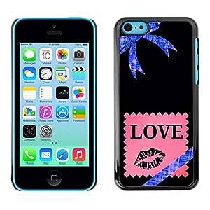 All Phone Most Case / Hard PC Metal piece Shell Slim Cover Protective Case Carcasa Funda Caso de protección para Apple Iphone 5C Stars Universe Bow Pink Love