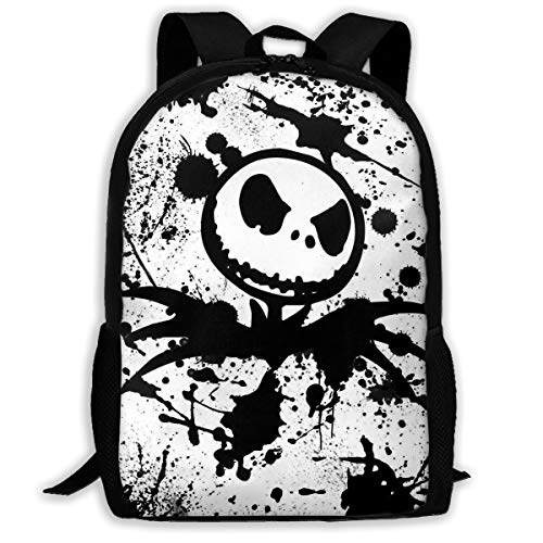 Jack-Skellington School Backpack Lunch Bag Set School Bag Boys&Girls Bookbag Travel Daypack