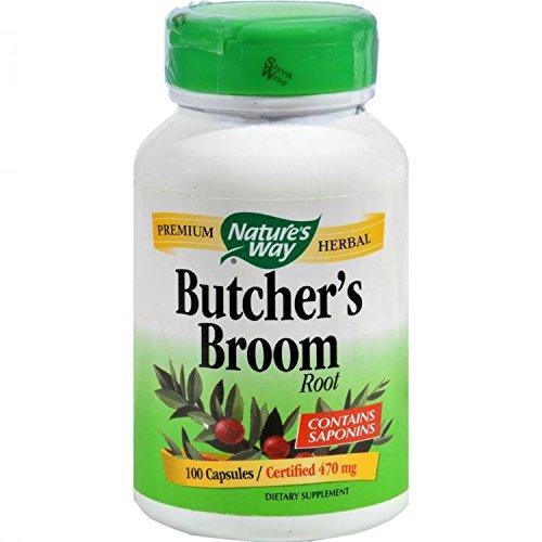 NATURE'S WAY BUTCHER'S BROOM ROOT, 100 CAP by Nature's Way