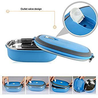 0.9L Insulated Food Container  Vacuum Sealable Plastic Lunch Box With Stainless Steel Interior   sc 1 st  Amazon.com : sectional lunch boxes - Sectionals, Sofas & Couches