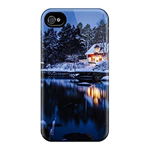Excellent Iphone 4/4s Case Tpu Cover Back Skin Protector Holm Sweden - Winter Lscape