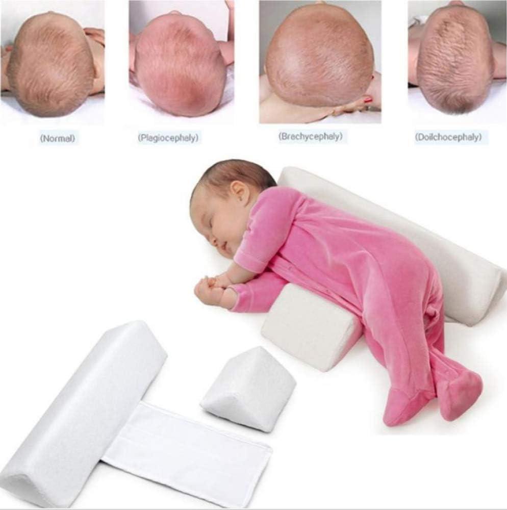 0-6 Monate,Blue Anti-Rollover-Schlafkissen Dreieckiges Baby-Positionierungskissen YUYON Neugeborenes Baby-Kissen