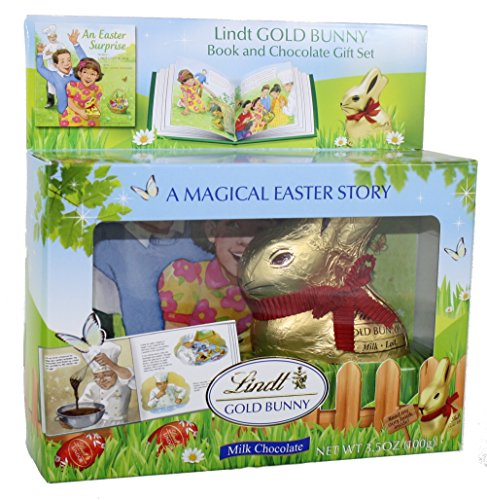 Lindt Chocolate Gold Bunny Milk Chocolate Figure with Story Book, 3.5 Ounce