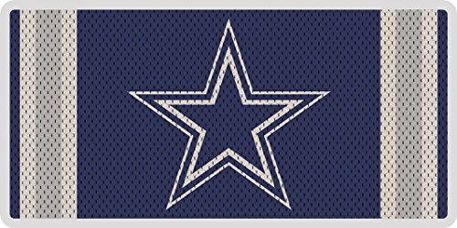 (Dallas Cowboys Jersey Style Deluxe Acrylic Laser License Plate Tag Football)