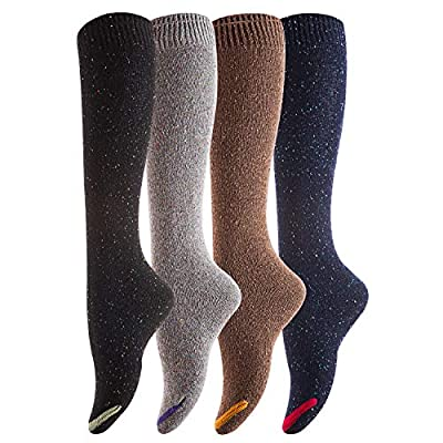 Lovely Annie Women's 4 Pairs Cute Cozy Knee High Cotton Socks HR158212 Size 6-9 ...