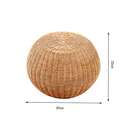 FORWIN US stool- Stool Round Rattan Drum Chair Shoe Bench Wooden Shoes Stool Adult Seat Tea Stool Small Sofa Foot Makeup Stool Without Backrest 30 X 30 X 33 CM stool (Size : 303033) by StoolStool (Image #1)