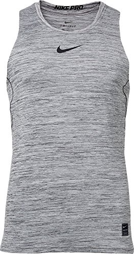 NIKE Men's Pro Fitted Compression Tank Top (Black, X-Large) - Nike Sleeveless Training Top