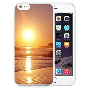 NEW Unique Custom Designed iPhone 6 Plus 5.5 Inch Phone Case With Sunset Beach Sea Reflection_White Phone Case