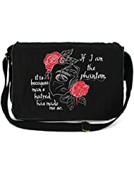 Dancing Participle Operas Phantom Embroidered Black Messenger Bag