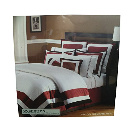 Square Union Comforter (Madison Home Queen Comforter Set Union Square Red)