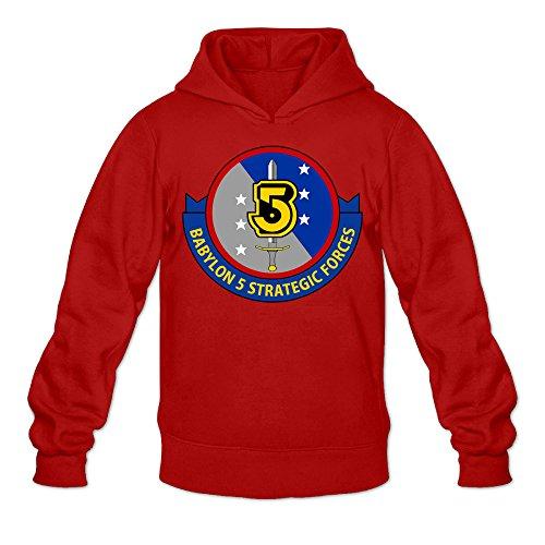 Caili Men's Babylon 5 1994 Logo Hooded Sweatshirts XXL Red