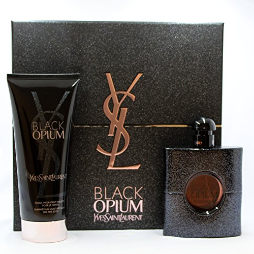 Black Opium by YSL for Women 2 PC Set (3.0 oz EDP Spray + 6.6 oz Body Lotion) by Yves Saint Laurent