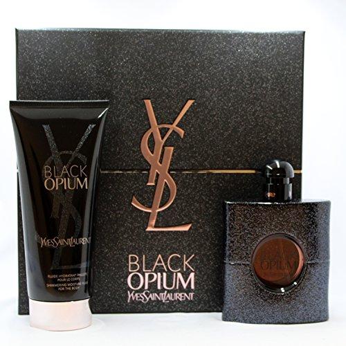 Black Opium by YSL for Women 2 PC Set (3.0 oz EDP Spray + 6.6 oz Body Lotion)