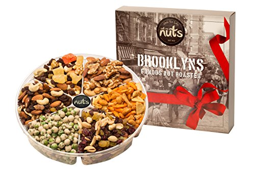 (Call Me Nuts- Gourmet Gift Nut Tray Health Platter(2 lb) Delicious, Kosher -Trail Deluxe, Health Mix, Cranberry Mix, Wasabi Green Peas, Cajun Spicy Mix and Mixed Salted Nuts Perfect for Parties)