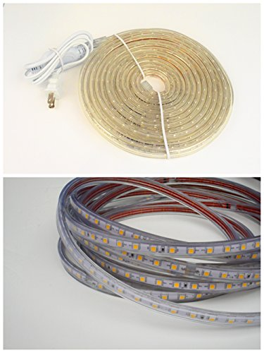 CBConcept UL Listed, 120 Feet,Super Bright 32850 Lumen, Blue, Dimmable, 110-120V AC Flexible Flat LED Strip Rope Light, 2190 Units 5050 SMD LEDs, Waterproof IP65, Accessories Included, Size: 0.57 Inch Width X 0.33 Inch Thickness- [Christmas Lighting, Indo by CBconcept (Image #4)