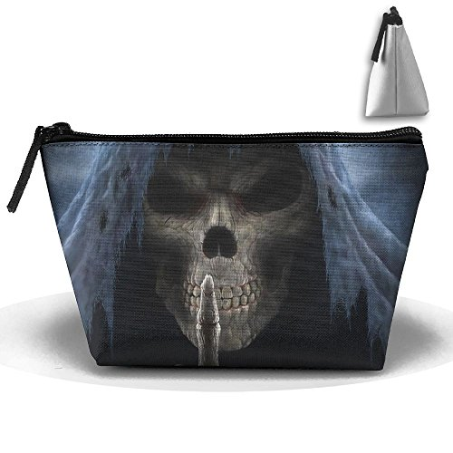 Portable Travel Storage Bags Skull Middle Finger All Printed Clutch Wallets Big Pouch Purse Zipper Holder For Kits Medicine And Makeup Bag (Halloween Finger Snacks)