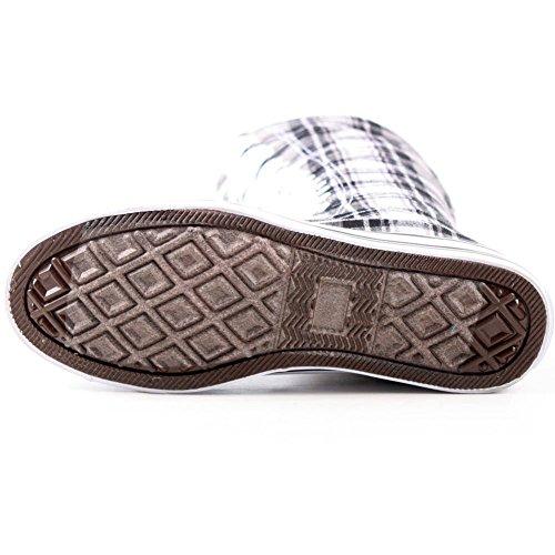 Nuevas Zapatillas De Deporte De Lona Fasion Para Mujer Zapatillas De Lona Gruesas Skatter Con Cordones Y Tacones Grises