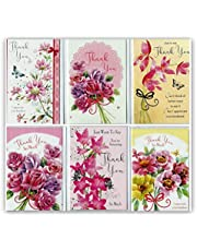 6 Assorted Thank-You Greeting Cards & Envelopes. Standard Size