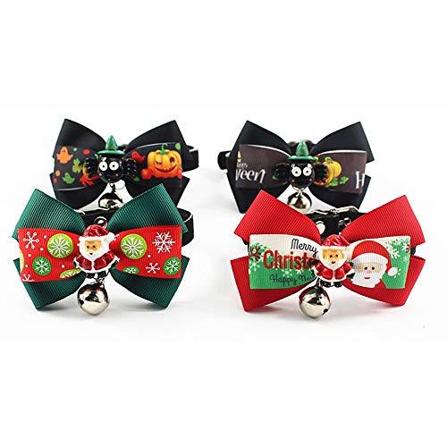 MOGCOL Halloween Christmas Pets Dog Hair Bows