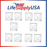 LifeSupplyUSA 10 Pack Replacement Air Purifier Filter 30931 to fit Hunter Models 30212, 30213, 30240, 30241, 30251, 30378, 30379, 30381 & 30382; By