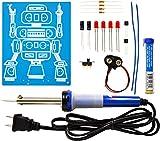 Elenco  LED Robot Blinker Soldering Kit with Iron and Solder