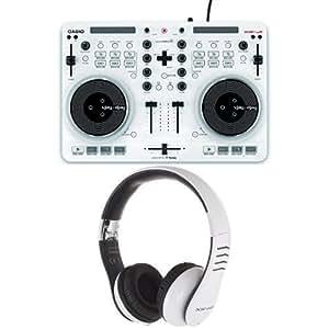 Casio XWJ1 DJ Controller Bundle with Casio XWH2 DJ Headphones