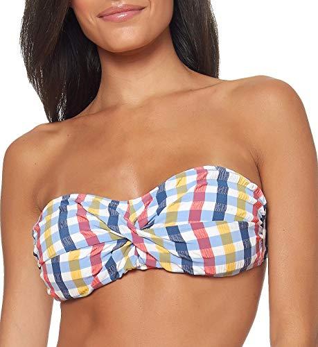 (Jessica Simpson Women's Swim Separates (Tops & Bottoms) Check It Out Collection, Bandeau Bikini Top,)
