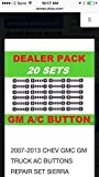 2007-2013 Chevy, GMC, GM Truck A/C Buttons Repair Set (20 Quantity)