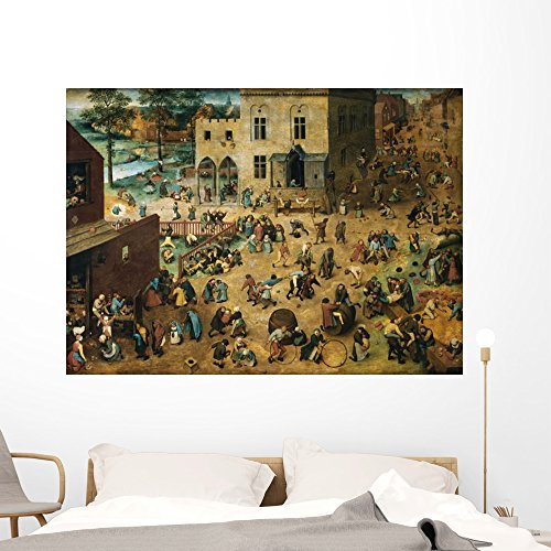 - Children's Games Pieter Bruegel Wall Mural Wallmonkeys Peel and Stick Graphic (60 in W x 43 in H) WM141762