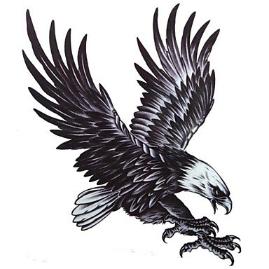 Hot 1 Pcs Waterproof Multicolored Large Color Map Eagle Pattern Tattoo Stickers for cheap