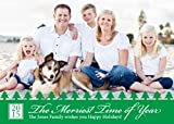 Customizable 5 X 7 Holiday Photo Greeting Card - Christmas Tree Fun (10 Qty.)