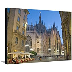 Duomo, Milan, Lombardy, Italy Stretched Canvas Print by Demetrio Carrasco - 32 x 24 in