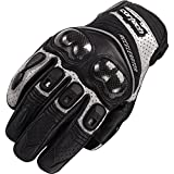 Cortech Accelerator Series 3 Men's Leather Street Motorcycle Gloves - Black/Silver/Large