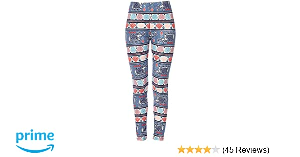 21ae0a6b6cd29 KMystic Women s Printed Brushed Leggings Regular and Plus Sizes at Amazon  Women s Clothing store