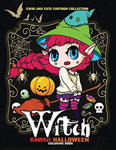 Kawaii Halloween Coloring Book: Fun and Beautiful Coloring Pages for Stress Relieving -
