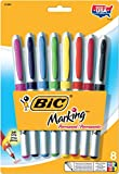 BIC Marking Permanent Marker, Ultra Fine Point, Fashion Assorted Colors, 8-Count