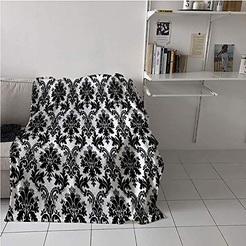 - Suchashome Damask Fabric The Yard Stroller Blanket,Vintage Style Pattern Classical Victorian Interior Design Elements Floral Print,Lightweight E x tra Big,Digital Printing Blanket 40