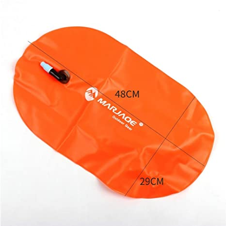 SUFU - Bolsa de Aire para natación con diseño de Flotador Inflable, Naranja