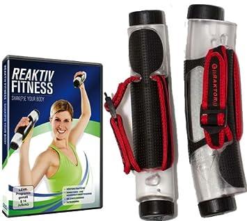 RAKTOR 165 - Juego de pesas y DVD, color transparente, rojo y negro: Amazon.es: Deportes y aire libre