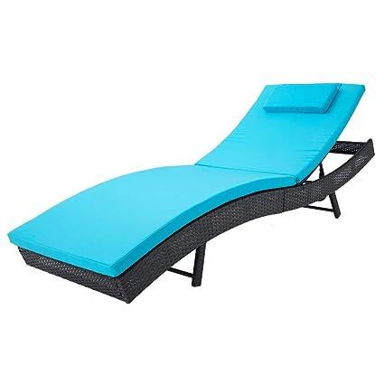 Brilliant Amazon Com Outroad Patio Folding Lounge Chair Wicker Inzonedesignstudio Interior Chair Design Inzonedesignstudiocom