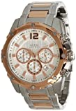 Guess Bold Chronograph Silver Dial Rose Gold-tone Mens Watch U0165G2, Watch Central