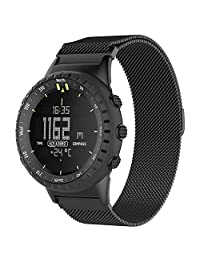 Band for Suunto Core Watch,Teepao Replacement Suunto Core Accessory Watch Band Premium Magnetic Milanese Loop Stainless Steel Magnet Closure Lock Bracelet Strap Metal Band